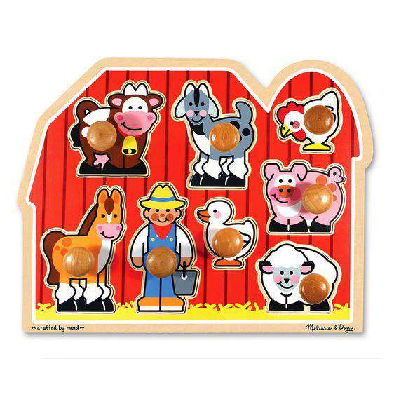 Melissa & Doug ~ Large Farm Jumbo Knob Puzzle - 8 pieces