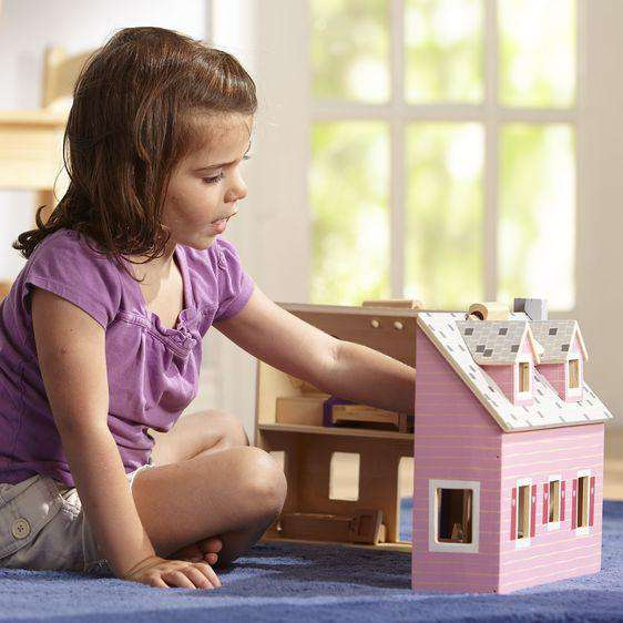 Melissa & Doug | Fold & Go Mini Dollhouse