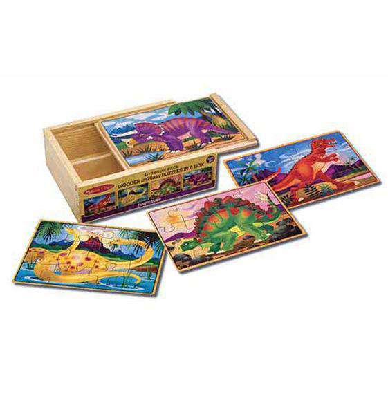 Melissa & Doug | Dinosaur Puzzles in a Box