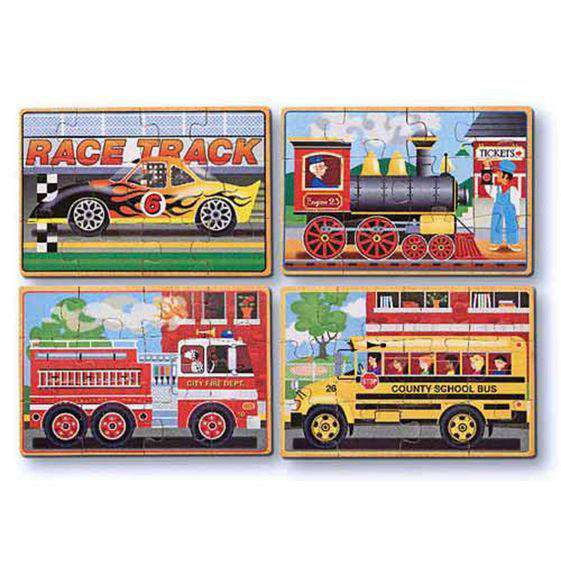 Melissa & Doug | Vehicles Puzzles in a Box