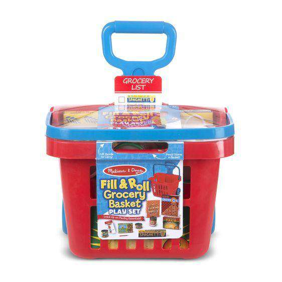 Melissa & Doug | Fill & Roll Grocery Basket Play Set