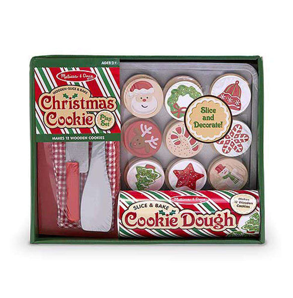 Melissa & Doug | Wooden Play Food | Christmas Cookie Slice & Bake