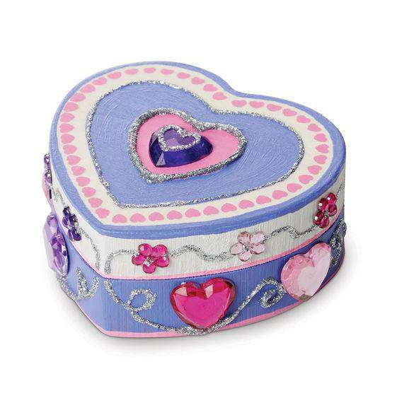 Melissa & Doug | Decorate Your Own | Heart Box