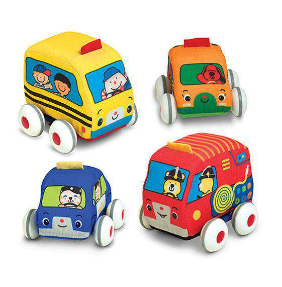Melissa & Doug | K's Kids Pull-Back Town Vehicles