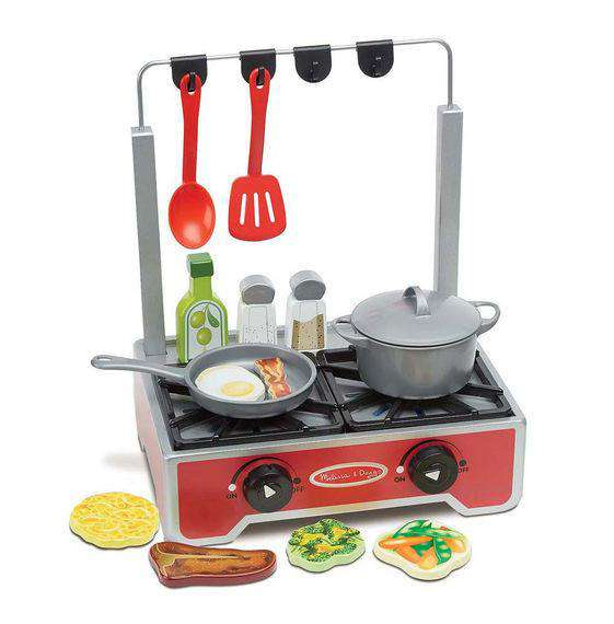 Melissa & Doug | Deluxe Wooden Cooktop Set