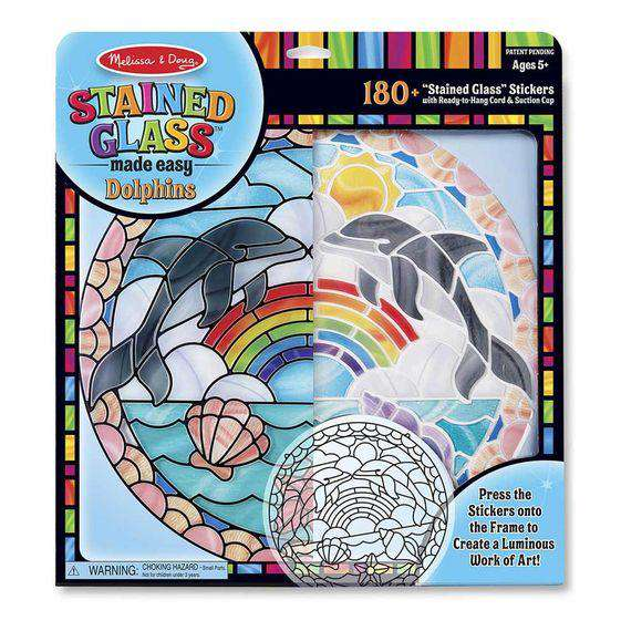 Melissa & Doug | Stained Glass Made Easy - Dolphins