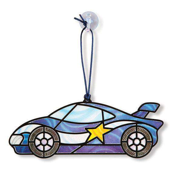 Melissa & Doug | Stained Glass ~ Race Cars