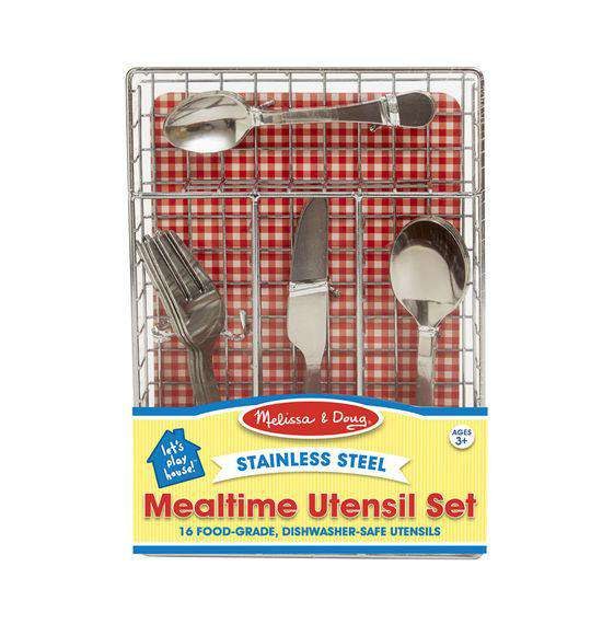 Melissa & Doug | Let's Play House! Mealtime Utensil Set