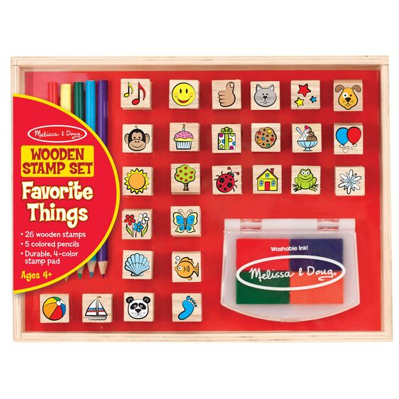 Melissa & Doug | Wooden Favorite Things Stamp Set