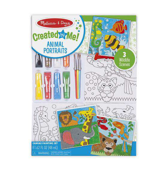 Melissa & Doug | Created by Me! Canvas Painting Set - Animal Portraits