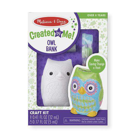 Melissa & Doug | Decorate-Your-Own Owl Bank