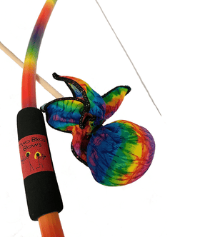 Two Bros Bows | Rainbow Bow With Tie - Dye Arrow