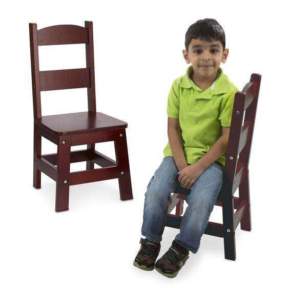 Melissa & Doug | Solid Wood Chairs 2 ~ Espresso