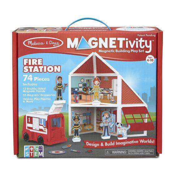 Melissa & Doug | Magnetivity Building Play Set – Fire Station