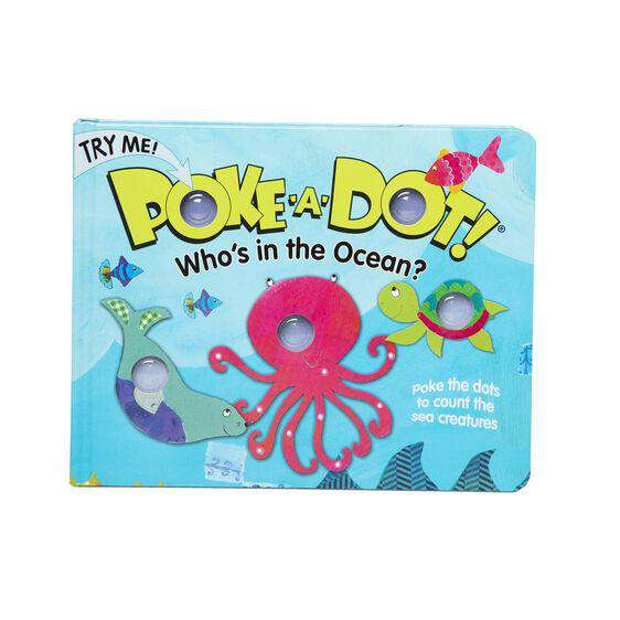 Melissa & Doug | Poke A Dot Book ~ Who's In The Ocean