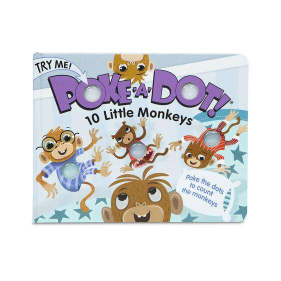 Melissa & Doug | Poke A Dot Book ~ 10 Little Monkeys *
