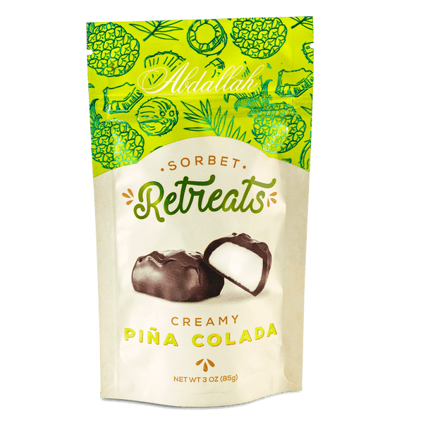 Abdallah Chocolate | Sorbet Retreats ~ Pina Colada Sorbet Dark Chocolate