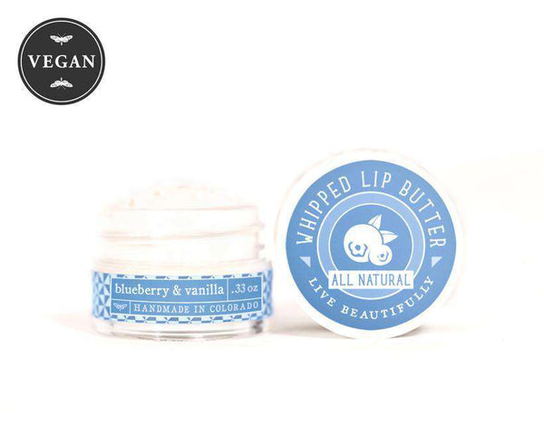 Live Beautifully - Whipped Lip Butter - Blueberry & Vanilla