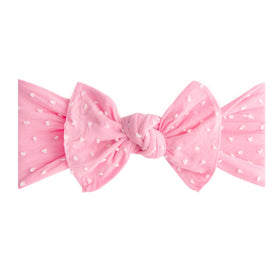 Baby Bling Bows | Patterned Shabby Knot ~ Bubblegum Dot
