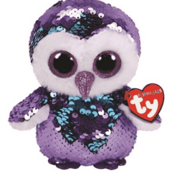 TY Beanie Babies Flippables ~ Moonlight