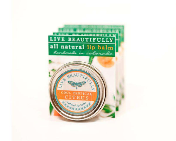 Live Beautifully - Signature Lip Balm Tin - Cool Tropical Citrus