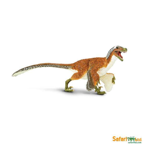 Safari LTD | Wild Safari Prehistoric World ~ FEATHERED VELOCIRAPTOR