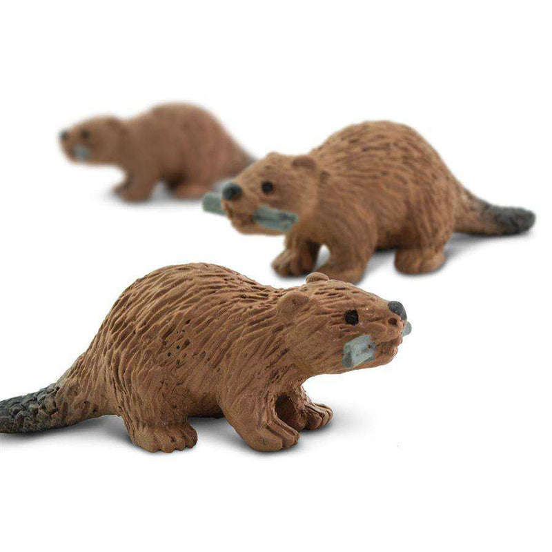 Safari LTD | Good Luck Minis ~ Beaver (pack of 6)