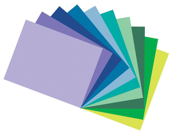 Tru-Ray | Assorted Cool Colors Construction Paper 9X12