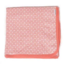 Saranoni | Lattice Coral Organic Cotton Swaddle