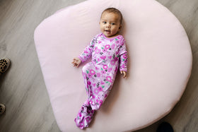 Little Sleepies - Sweetheart Floral Bamboo Viscose Infant Knotted Gown