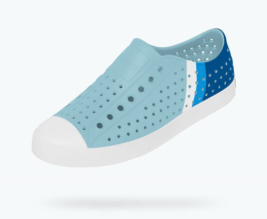Native Shoes | Jefferson Adult Sky Blue/ Shell White/ Gradient Block