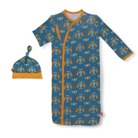 Magnetic Me | Knighty Night Modal Magnetic Sack Gown +Hat Set