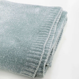 Saranoni Luxury Blanket | Chenille - Frosted Sage