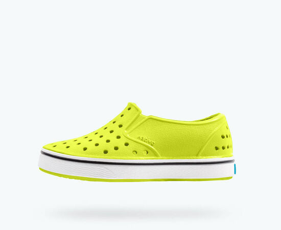 Native Shoes | Miles Child  Chartreuse Green/ Shell White