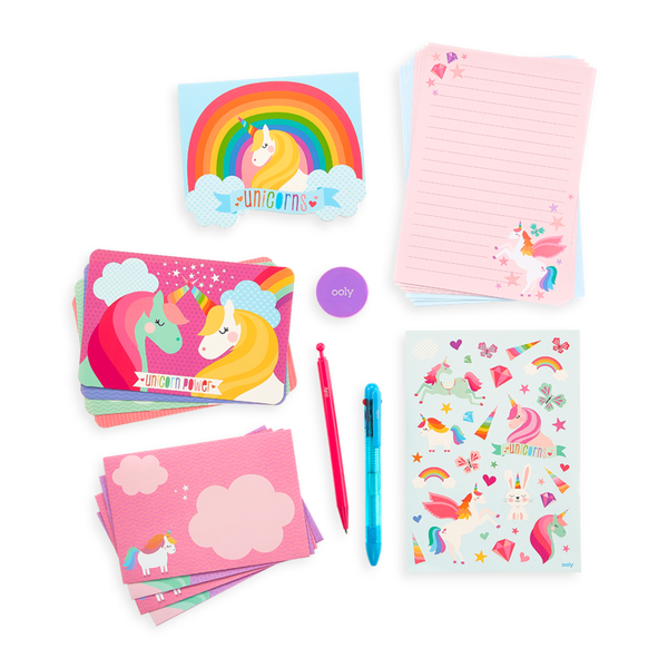 Ooly | On-The-Go Stationery Kit - Unique Unicorns