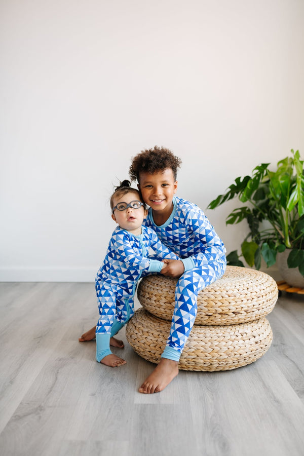 Little Sleepies - Horizon Triangles Bamboo Viscose Two-Piece Pajama Set
