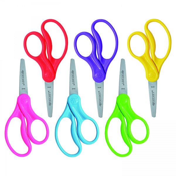 Westcott LEFTY Scissors - One Pair Pointed Tip (color may vary)