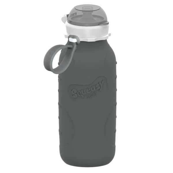 Squeasy Gear Silicone Collapsible Bottle | Gray Sport