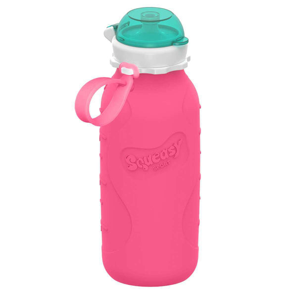 Squeasy Gear Silicone Collapsible Bottle | Pink Sport