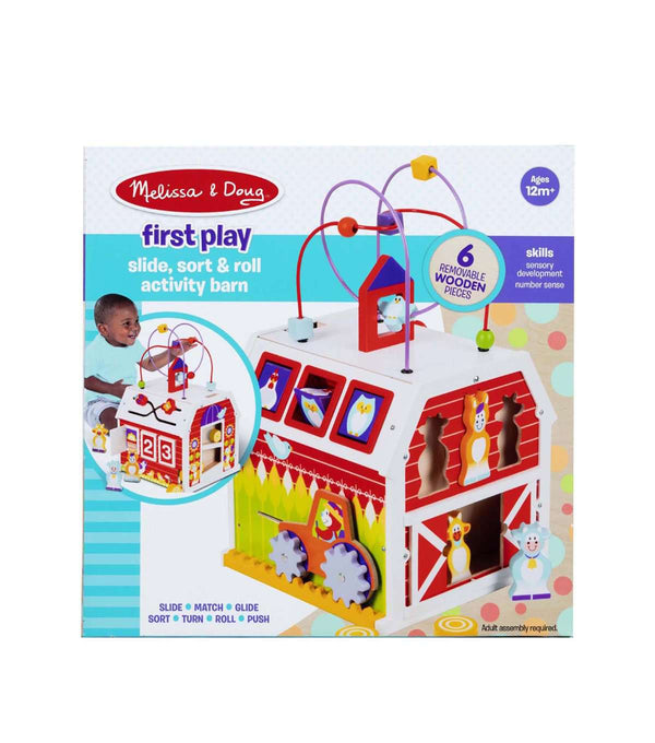 Melissa & Doug | First Play Slide Sort & Roll Activity Barn