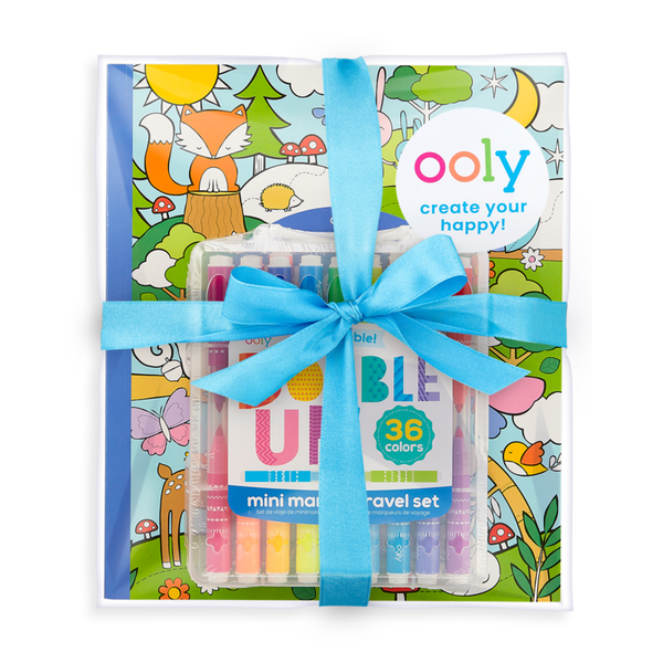 Ooly | double up and cozy critters coloring giftables pack