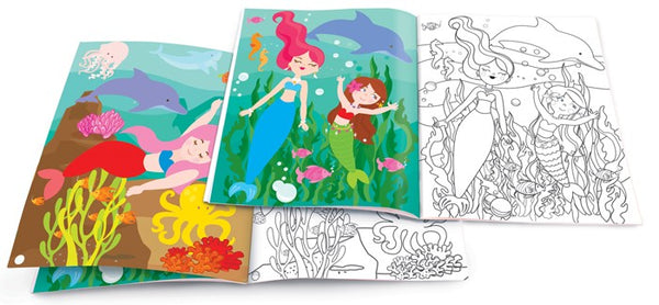 The Piggy Story - Magical Mermaids Dry Erase Coloring Book