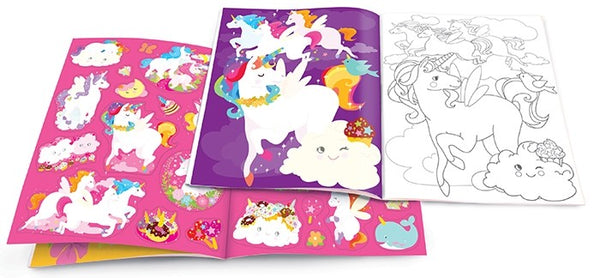 The Piggy Story - Unicorn Land Dry Erase Coloring Book