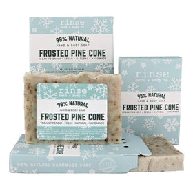 Rinse Bath Body Inc | Mini Frosted Pine Cone Soap Bar