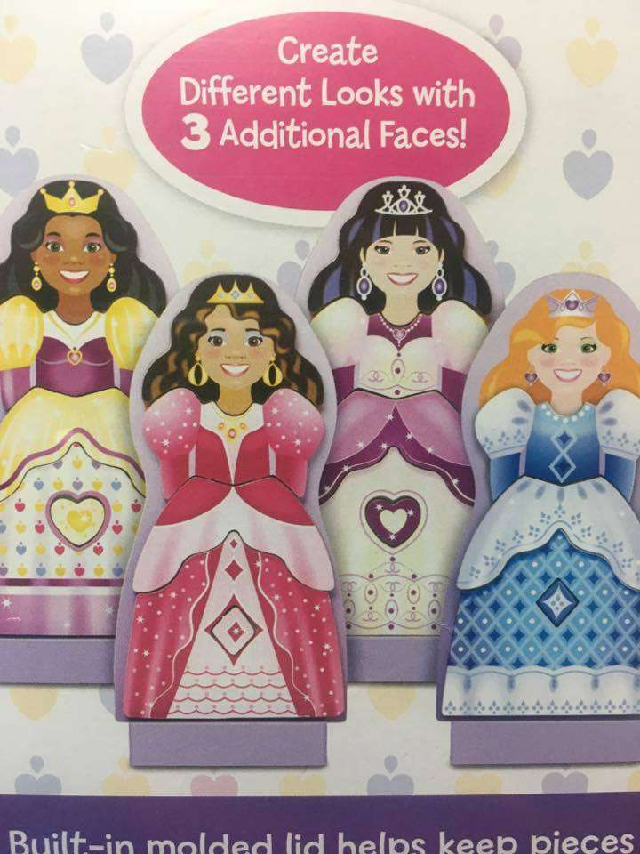 Melissa & Doug | Crowns & Gowns Magnetic Dress Up