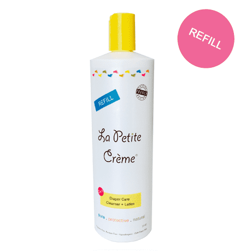 La Petite Creme | Diaper Care Cleanser + Lotion 20 oz. refill