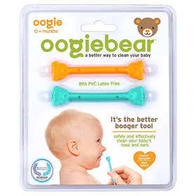 Oogiebear Nasal & Ear Cleaner - 2 Pack Orange & Seafoam