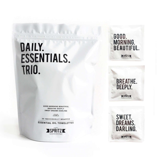 Happy Spritz - Daily Essentials Trio Mixed Towelette Bag