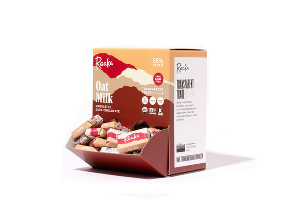 Raaka | 10 Piece Mini Pack ~ Oat Milk Mini Chocolate Bars