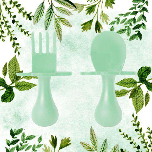 Grabease | First Self Feeding Utensil Set ~ Mint